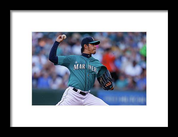 Hisashi Iwakuma Framed Print featuring the photograph Hisashi Iwakuma by Otto Greule Jr