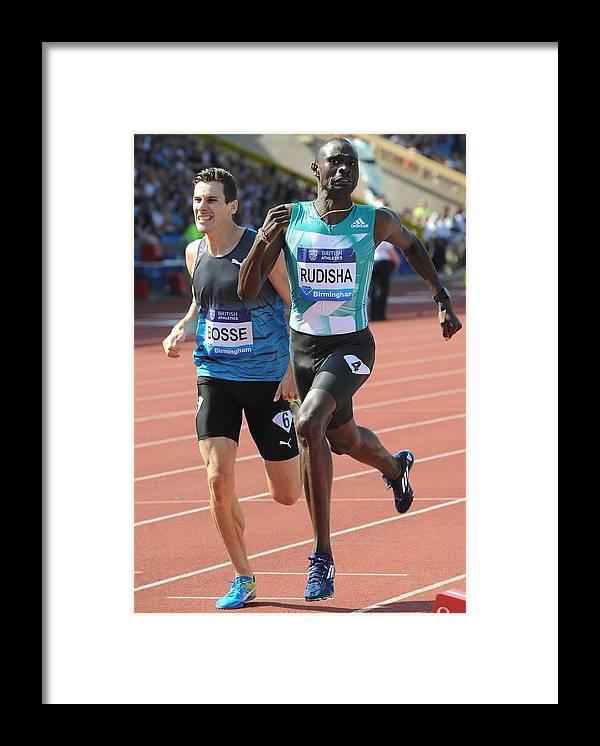 Kenya Framed Print featuring the photograph IAAF Diamond League 2016 by Anadolu Agency