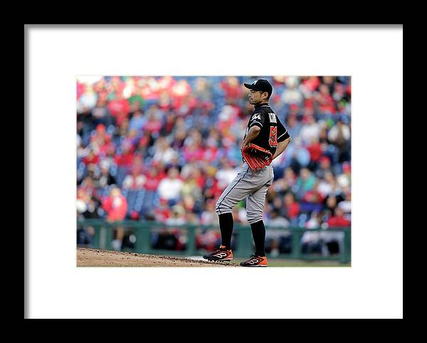 American League Baseball Framed Print featuring the photograph Ichiro Suzuki by Adam Hunger