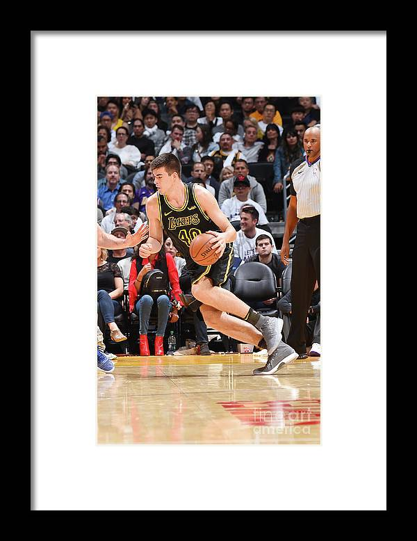 Nba Pro Basketball Framed Print featuring the photograph Ivica Zubac by Andrew D. Bernstein
