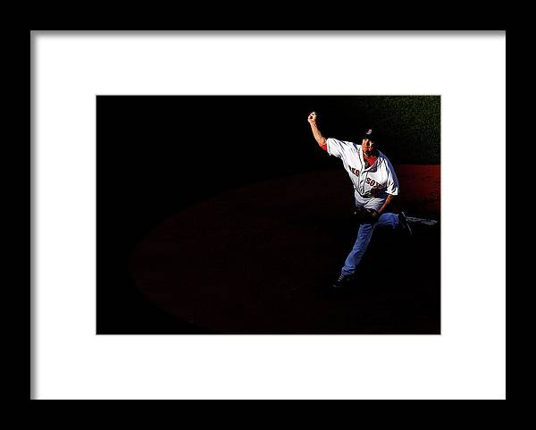 People Framed Print featuring the photograph Jake Peavy by Jared Wickerham