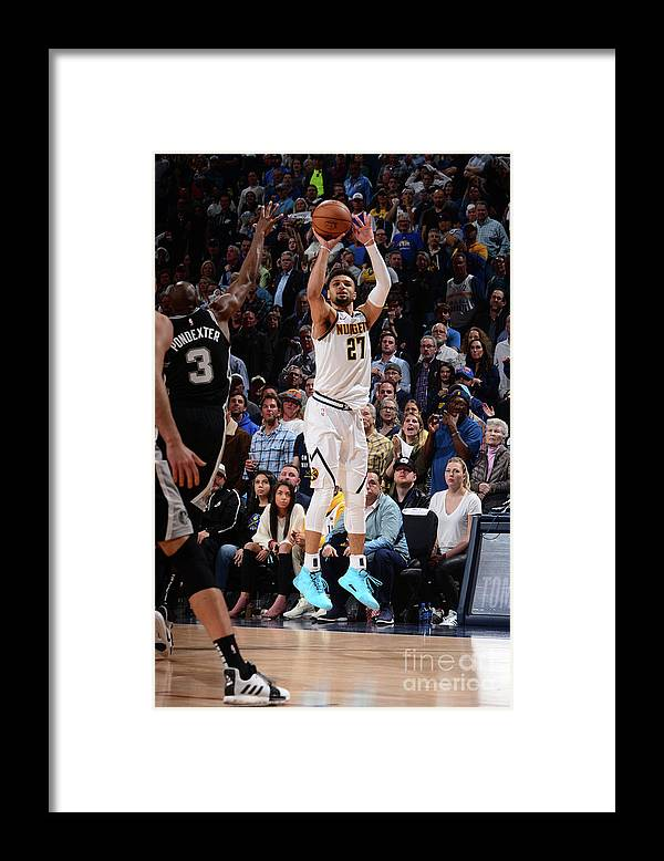 Playoffs Framed Print featuring the photograph Jamal Murray by Bart Young