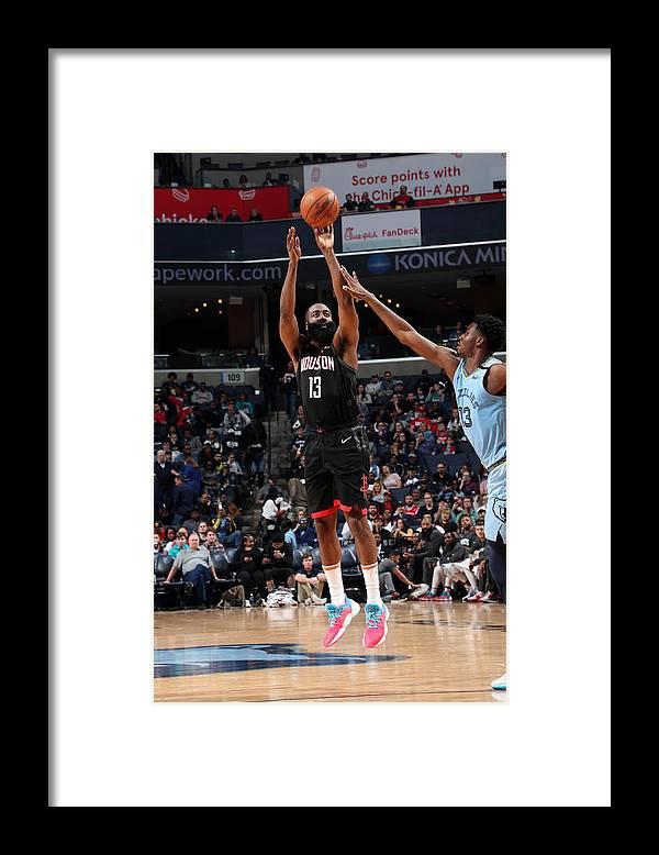 Nba Pro Basketball Framed Print featuring the photograph James Harden by Joe Murphy