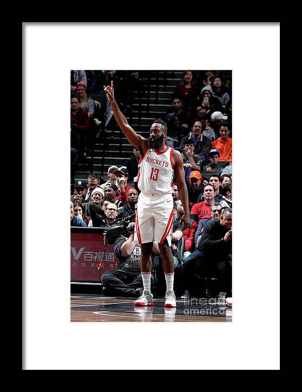 Crowd Framed Print featuring the photograph James Harden by Nathaniel S. Butler