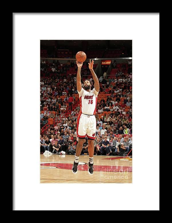 Nba Pro Basketball Framed Print featuring the photograph James Johnson by Oscar Baldizon