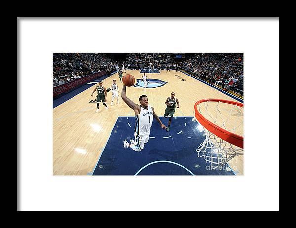 Nba Pro Basketball Framed Print featuring the photograph Jarell Martin by Joe Murphy
