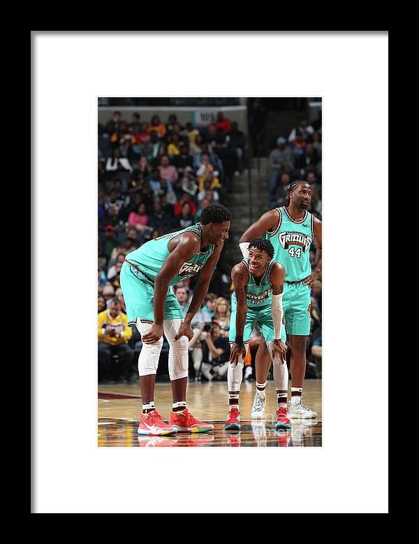 Nba Pro Basketball Framed Print featuring the photograph Jaren Jackson by Joe Murphy