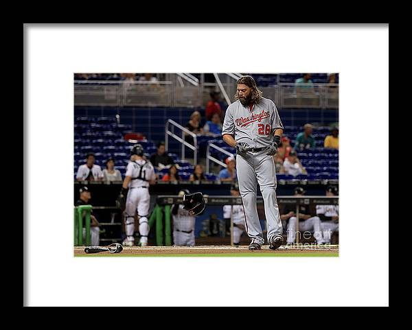 People Framed Print featuring the photograph Jayson Werth by Mike Ehrmann