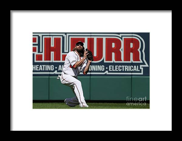 Game Two Framed Print featuring the photograph Jayson Werth by Patrick Smith