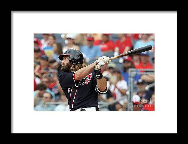Following Framed Print featuring the photograph Jayson Werth by Rob Carr