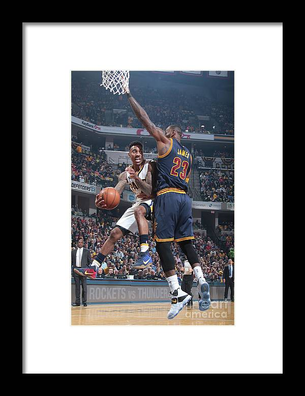 Playoffs Framed Print featuring the photograph Jeff Teague by Ron Hoskins