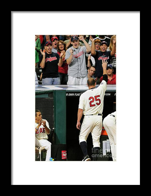 Crowd Framed Print featuring the photograph Jim Thome by Jason Miller