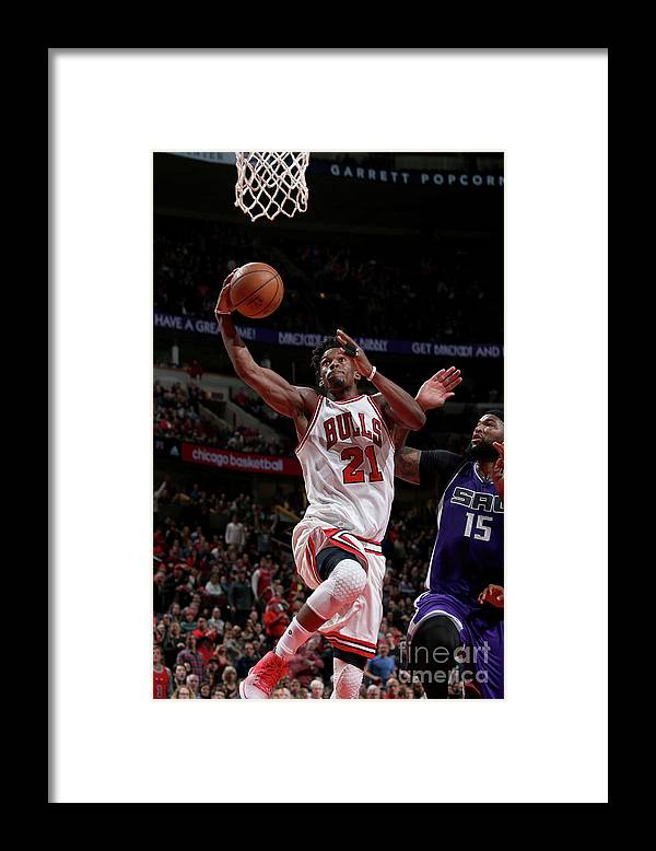 Nba Pro Basketball Framed Print featuring the photograph Jimmy Butler by Gary Dineen