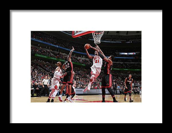 Nba Pro Basketball Framed Print featuring the photograph Jimmy Butler by Nathaniel S. Butler