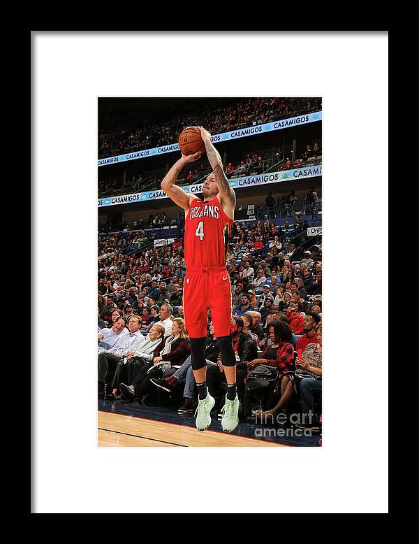 Smoothie King Center Framed Print featuring the photograph J.j. Redick by Layne Murdoch Jr.