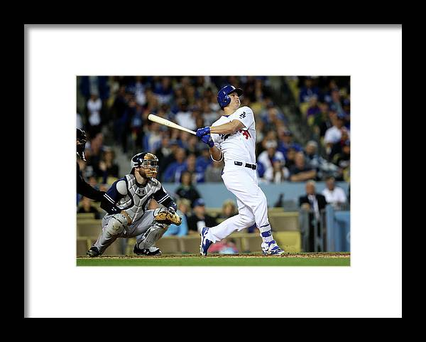 People Framed Print featuring the photograph Joc Pederson by Stephen Dunn