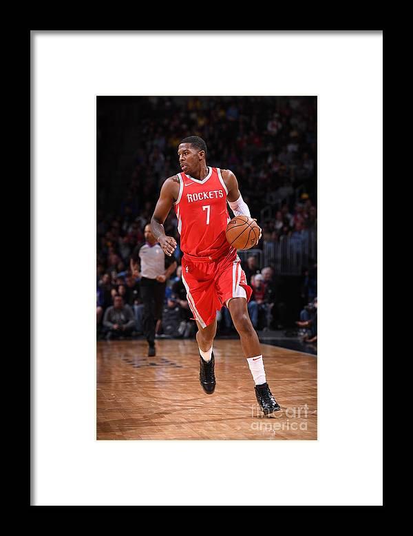 Nba Pro Basketball Framed Print featuring the photograph Joe Johnson by Garrett Ellwood