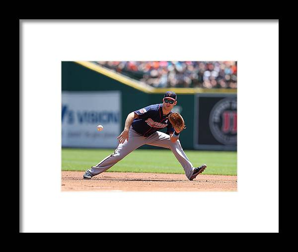 Joe Mauer Framed Print featuring the photograph Joe Mauer by Leon Halip