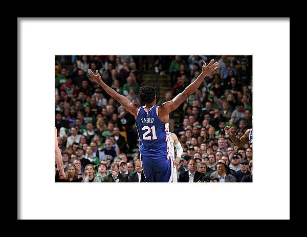 Nba Pro Basketball Framed Print featuring the photograph Joel Embiid by Brian Babineau