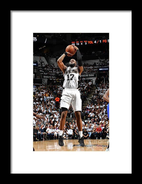 Playoffs Framed Print featuring the photograph Jonathon Simmons by Jesse D. Garrabrant