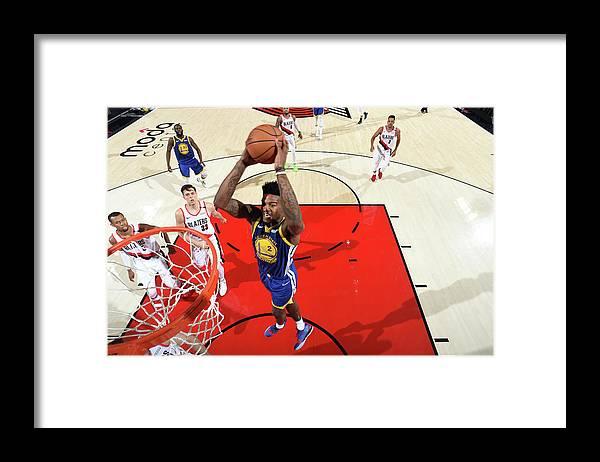 Nba Pro Basketball Framed Print featuring the photograph Jordan Bell by Andrew D. Bernstein