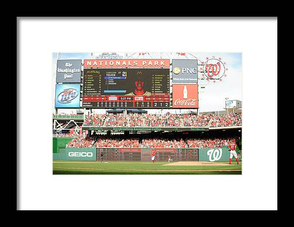 Ball Framed Print featuring the photograph Jordan Zimmermann by Mitchell Layton