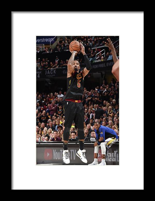 Playoffs Framed Print featuring the photograph J.r. Smith by Andrew D. Bernstein