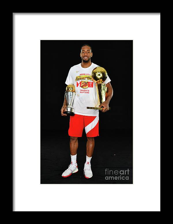 Playoffs Framed Print featuring the photograph Kawhi Leonard by Jesse D. Garrabrant