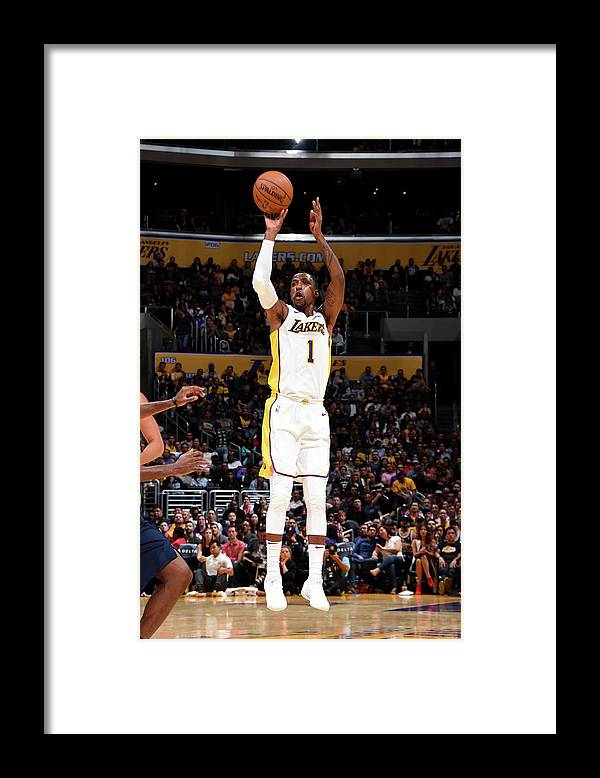 Nba Pro Basketball Framed Print featuring the photograph Kentavious Caldwell-pope by Andrew D. Bernstein
