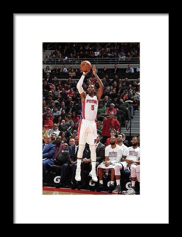 Nba Pro Basketball Framed Print featuring the photograph Kentavious Caldwell-pope by Chris Schwegler