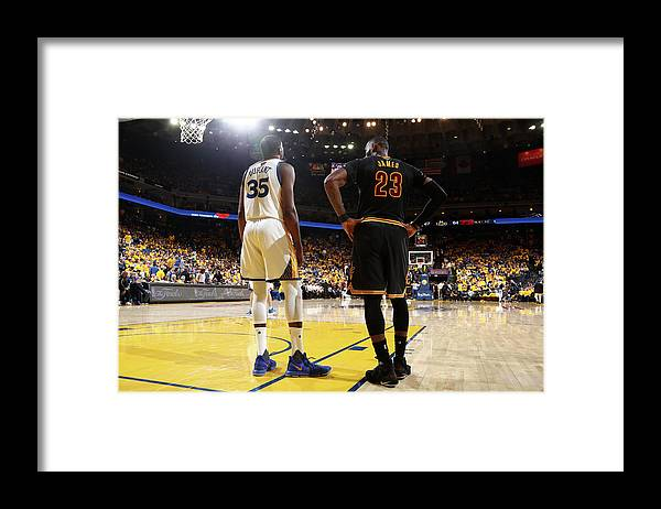 Playoffs Framed Print featuring the photograph Kevin Durant and Lebron James by Nathaniel S. Butler