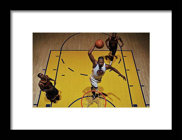 Playoffs Framed Print featuring the photograph Kevin Durant by Garrett Ellwood