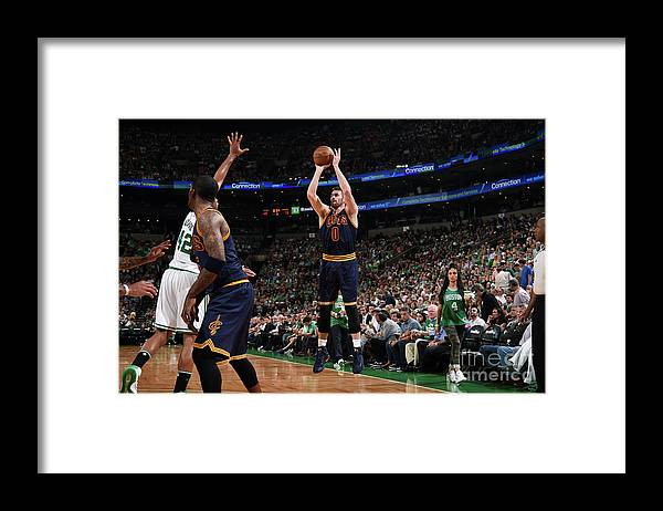 Playoffs Framed Print featuring the photograph Kevin Love by Brian Babineau