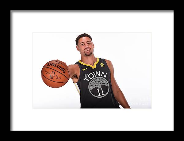 Media Day Framed Print featuring the photograph Klay Thompson by Noah Graham
