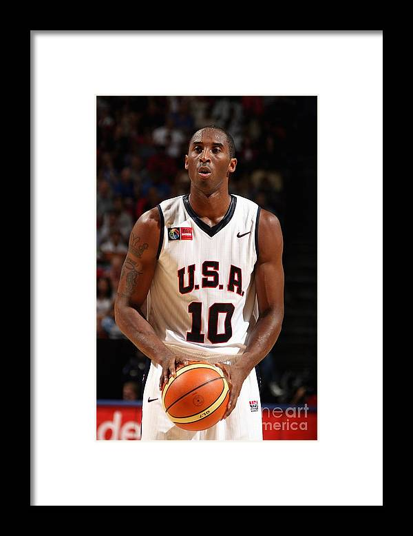 People Framed Print featuring the photograph Kobe Bryant by Nathaniel S. Butler