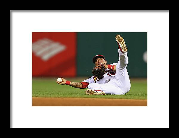 St. Louis Cardinals Framed Print featuring the photograph Kolten Wong by Dilip Vishwanat