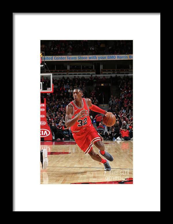 Chicago Bulls Framed Print featuring the photograph Kris Dunn by Gary Dineen