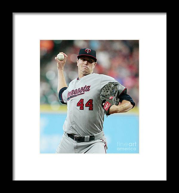 Three Quarter Length Framed Print featuring the photograph Kyle Gibson by Bob Levey