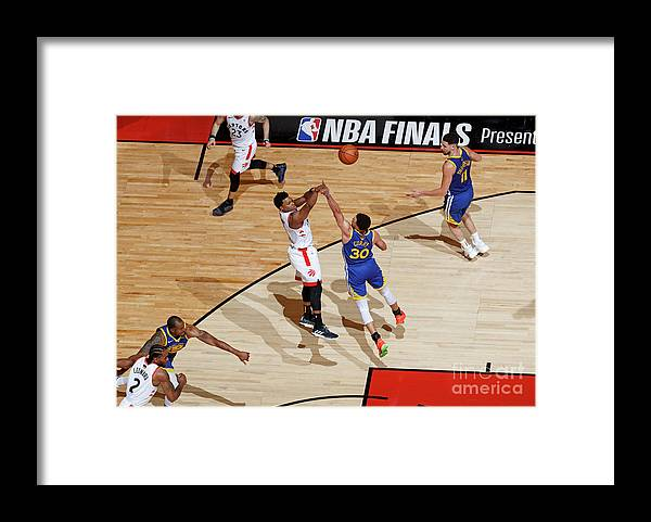 Playoffs Framed Print featuring the photograph Kyle Lowry by Mark Blinch