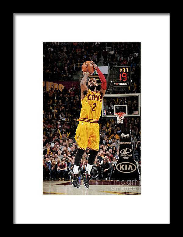 Nba Pro Basketball Framed Print featuring the photograph Kyrie Irving by David Liam Kyle