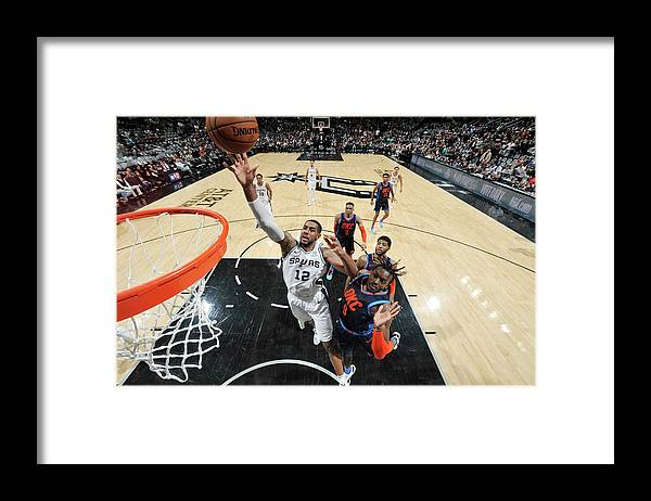 Nba Pro Basketball Framed Print featuring the photograph Lamarcus Aldridge by Mark Sobhani