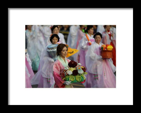 People Framed Print featuring the photograph Lantern Festival Celebrates Buddha's Birthday by Chung Sung-Jun