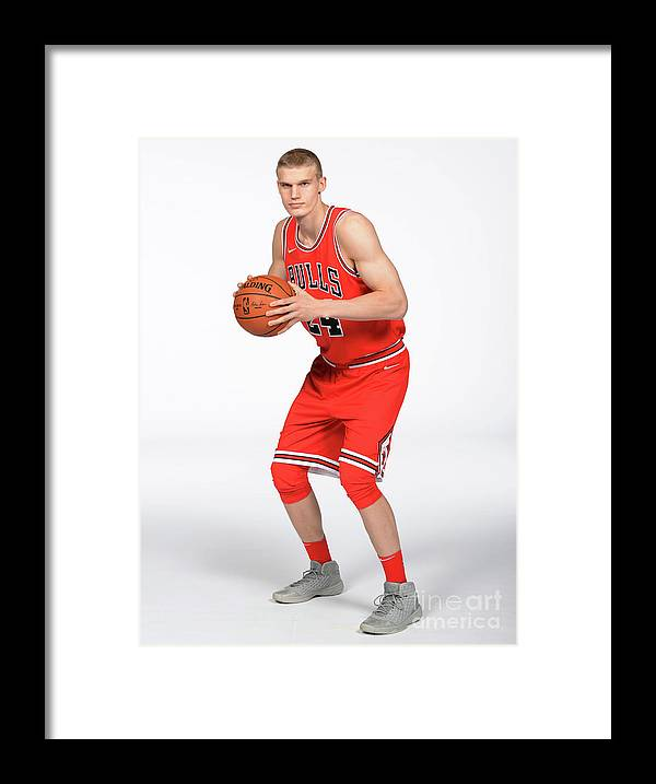 Media Day Framed Print featuring the photograph Lauri Markkanen by Randy Belice