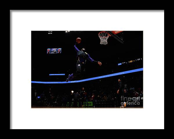 Toddler Framed Print featuring the photograph Lebron James by Bart Young