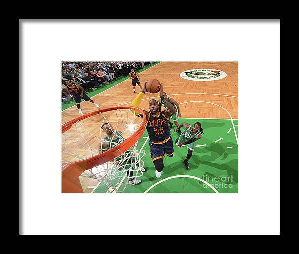 Nba Pro Basketball Framed Print featuring the photograph Lebron James by Brian Babineau