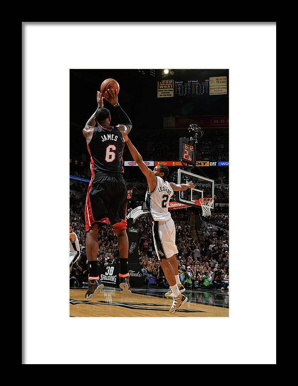 Playoffs Framed Print featuring the photograph Lebron James by Jesse D. Garrabrant