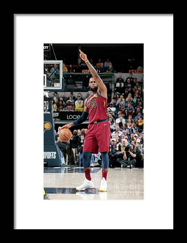 Playoffs Framed Print featuring the photograph Lebron James by Ron Hoskins