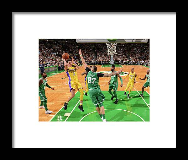 Nba Pro Basketball Framed Print featuring the photograph Lonzo Ball by Jesse D. Garrabrant