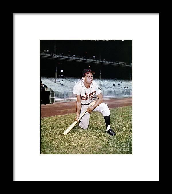 American League Baseball Framed Print featuring the photograph Luis Aparicio by Louis Requena