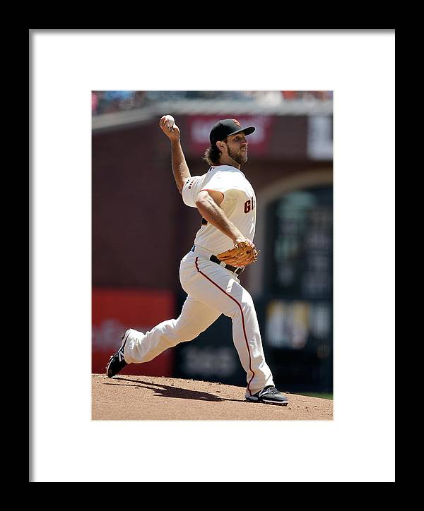 San Francisco Framed Print featuring the photograph Madison Bumgarner by Ezra Shaw
